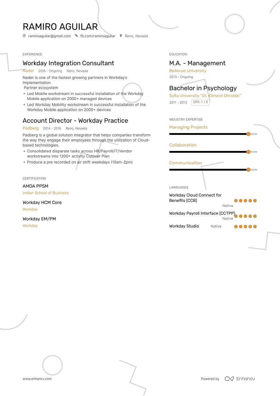 workday resume example