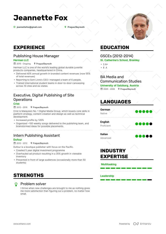 download publishing resume example for 2020  enhancv