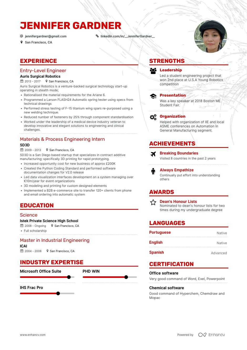 10 Entry Level Engineering Resume Examples How To By Enhancv