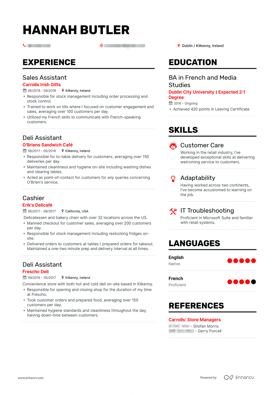real server resume example