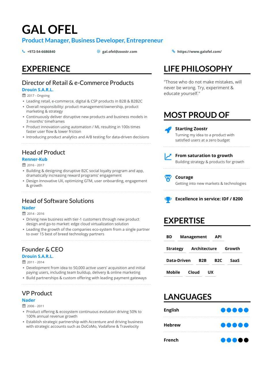 business development resume samples and writing guide for