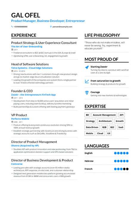 Business Development Resume Example And Guide For 2019