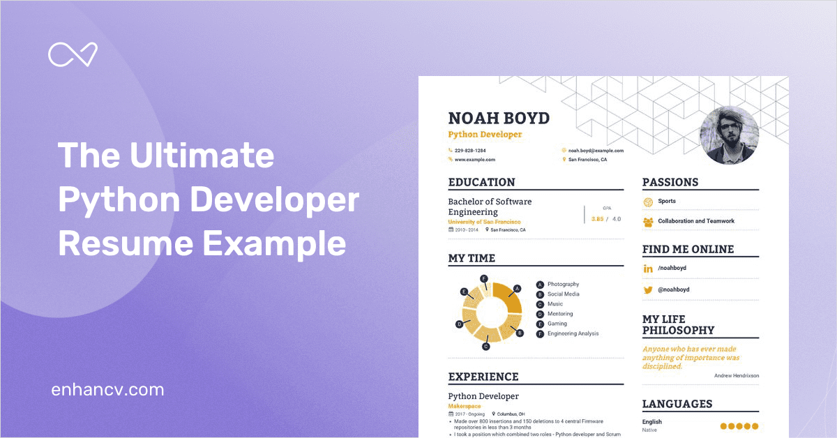 Python Developer Resume Example and Guide for 2019