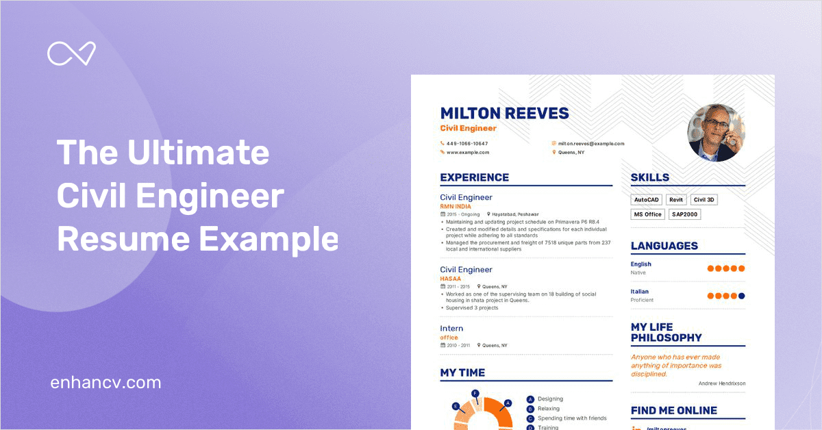 Civil Engineer Resume Example And Guide For 2019