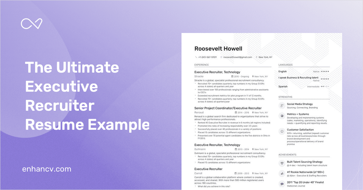 executive recruiter resume example and guide for 2019