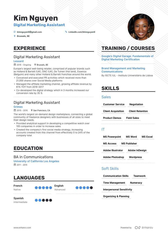 Top Marketing Assistant Resume Examples Expert Tips Enhancv Com