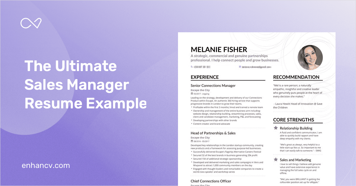 sales manager resume example and guide for 2019