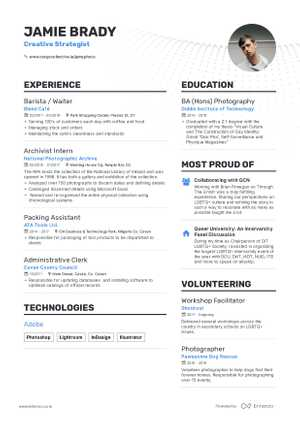 Jamie Brady resume preview