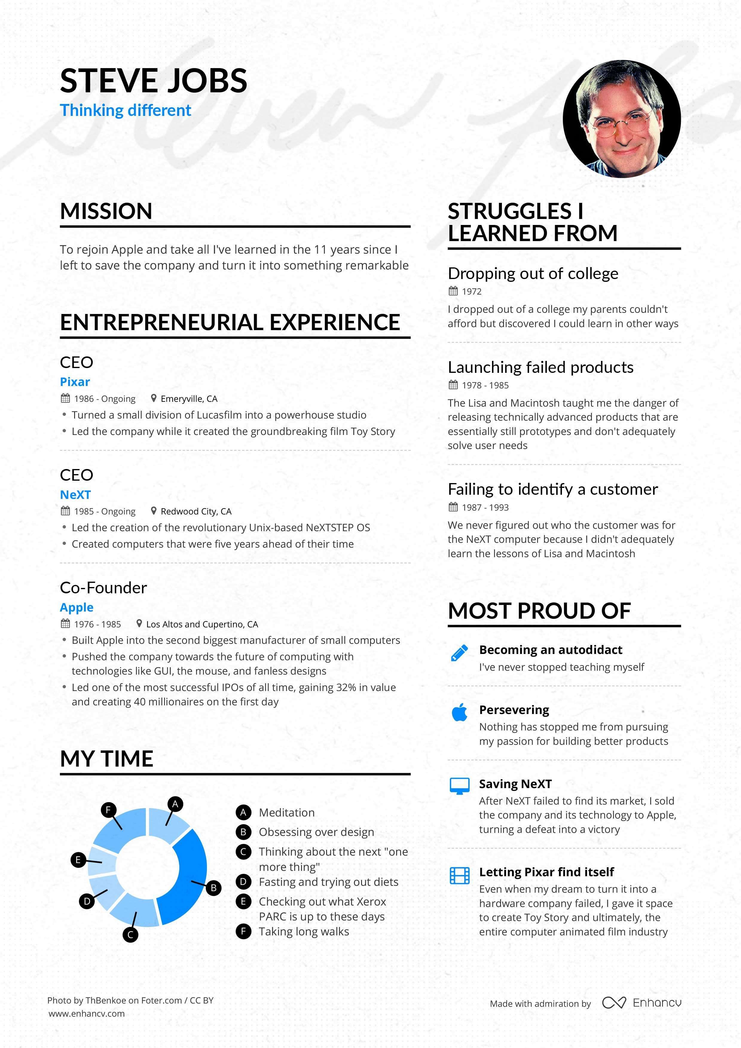 steve jobs u0026 39  apple ceo resume example