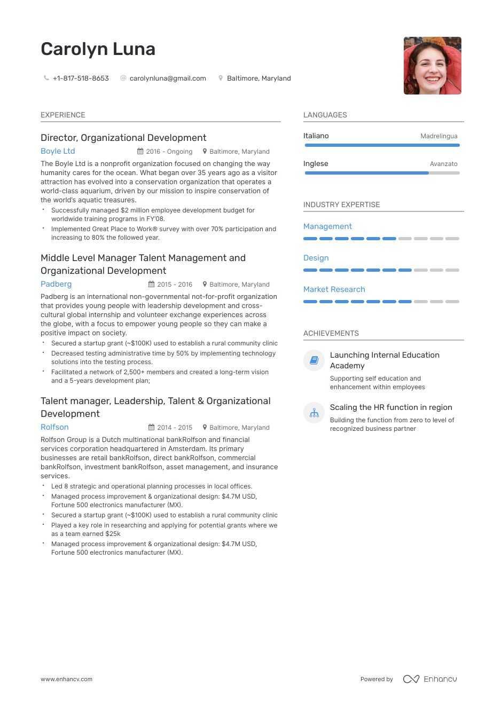 top organizational development resume examples  u0026 samples