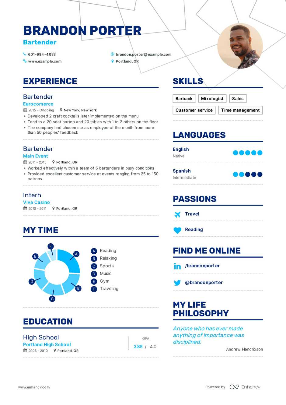 the best 2019 food service resume example guide