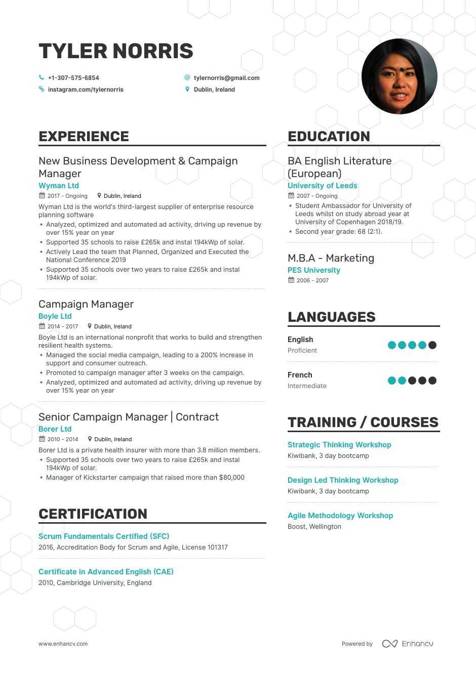 campaign manager resume example
