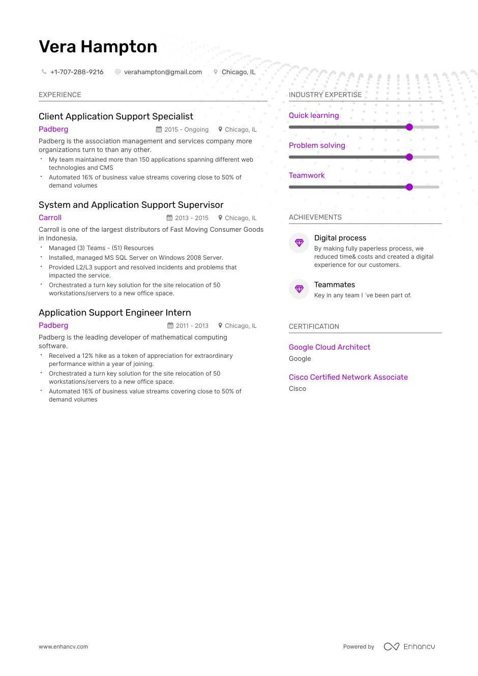 application support resume example and guide for 2019