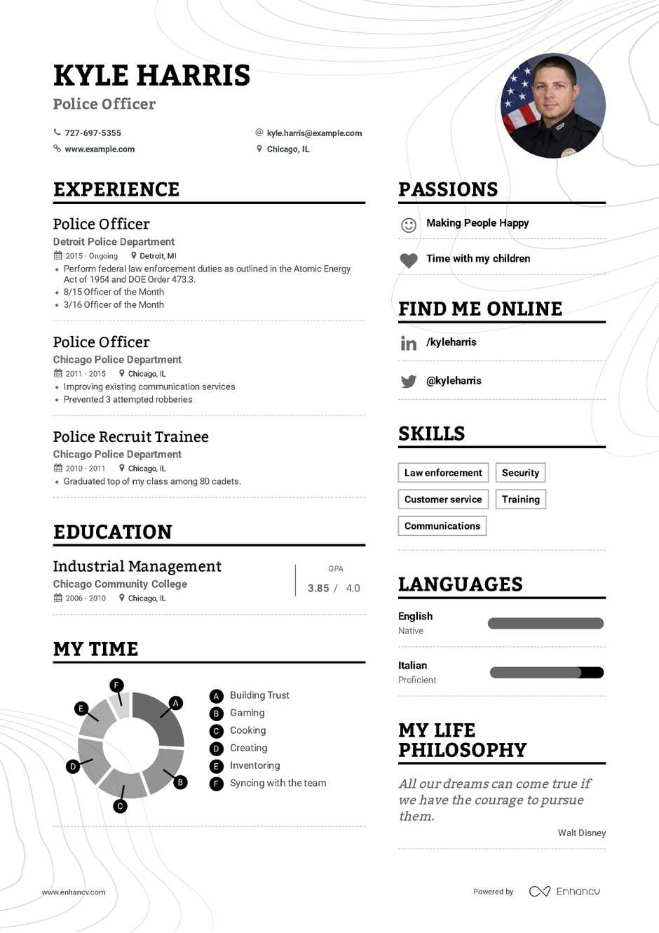 police officer resume example and guide for 2019