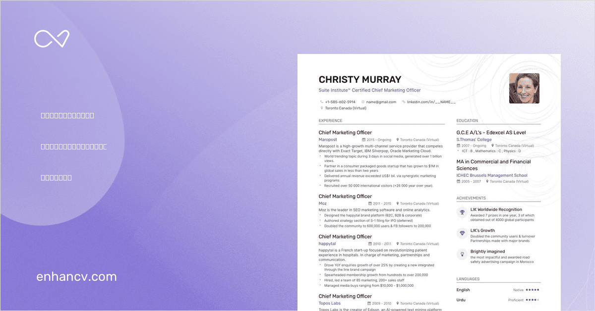 8  chief marketing officer resume examples for 2019