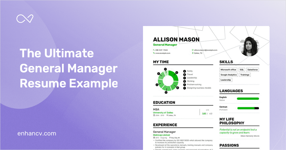 General Manager Resume Example And Guide For 2019