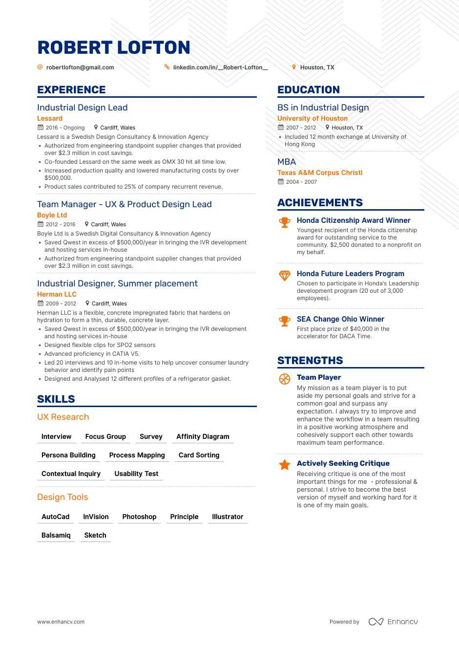 Industrial Designer Resume 8 Step Ultimate Guide For 2020