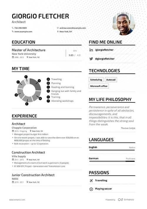 Construction Architect Resume Example And Guide For 2019