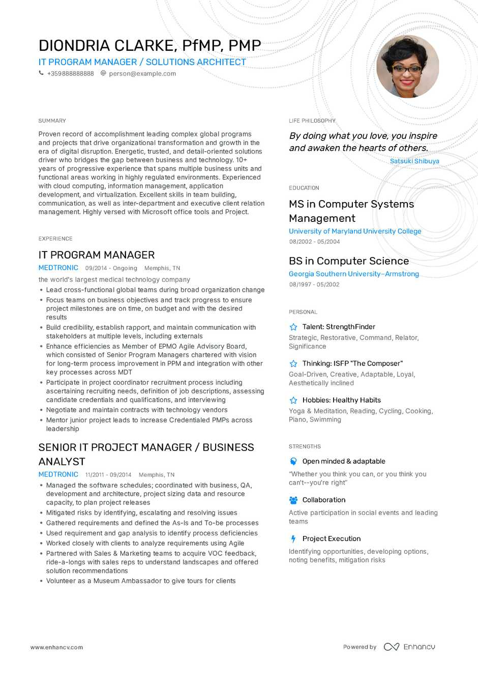 Professional Or Executive Resume Whats The Difference >> Program Manager Resume Example And Guide For 2019