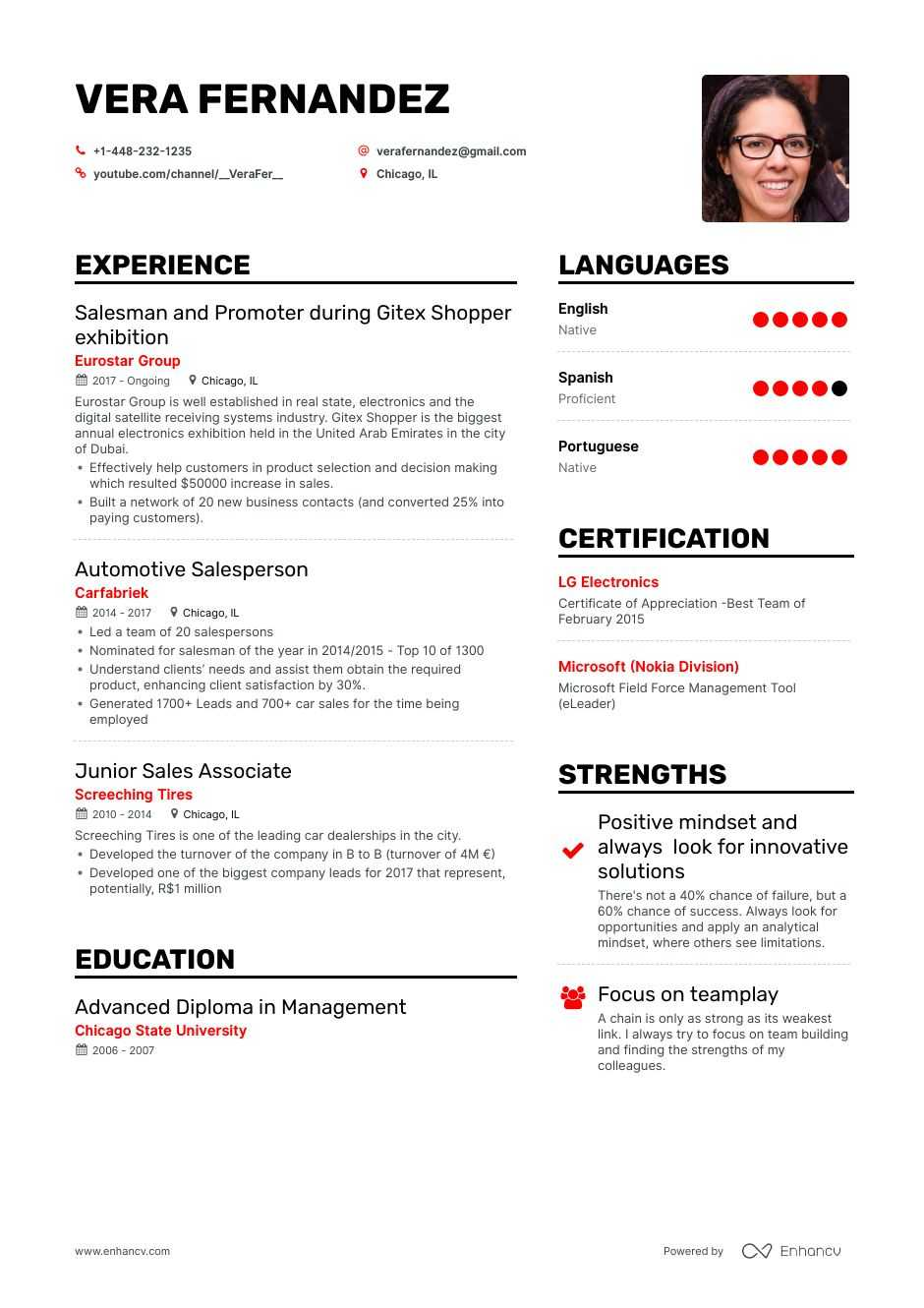 car salesman resume example