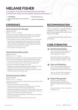 Melanie Fischer resume preview