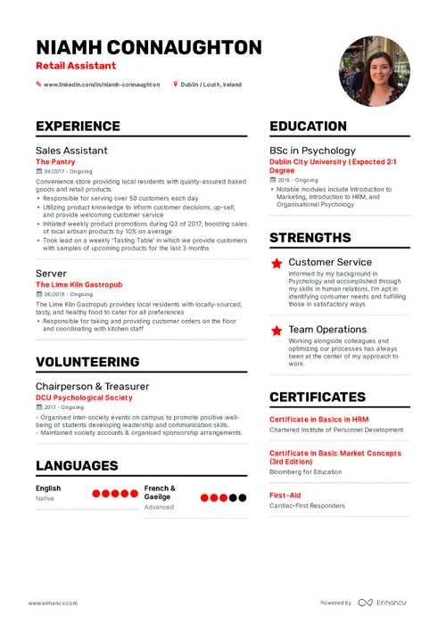 Niamh Connaughton Resume Preview
