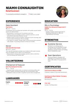 niamh connaughton resume preview niamh connaughton resume preview
