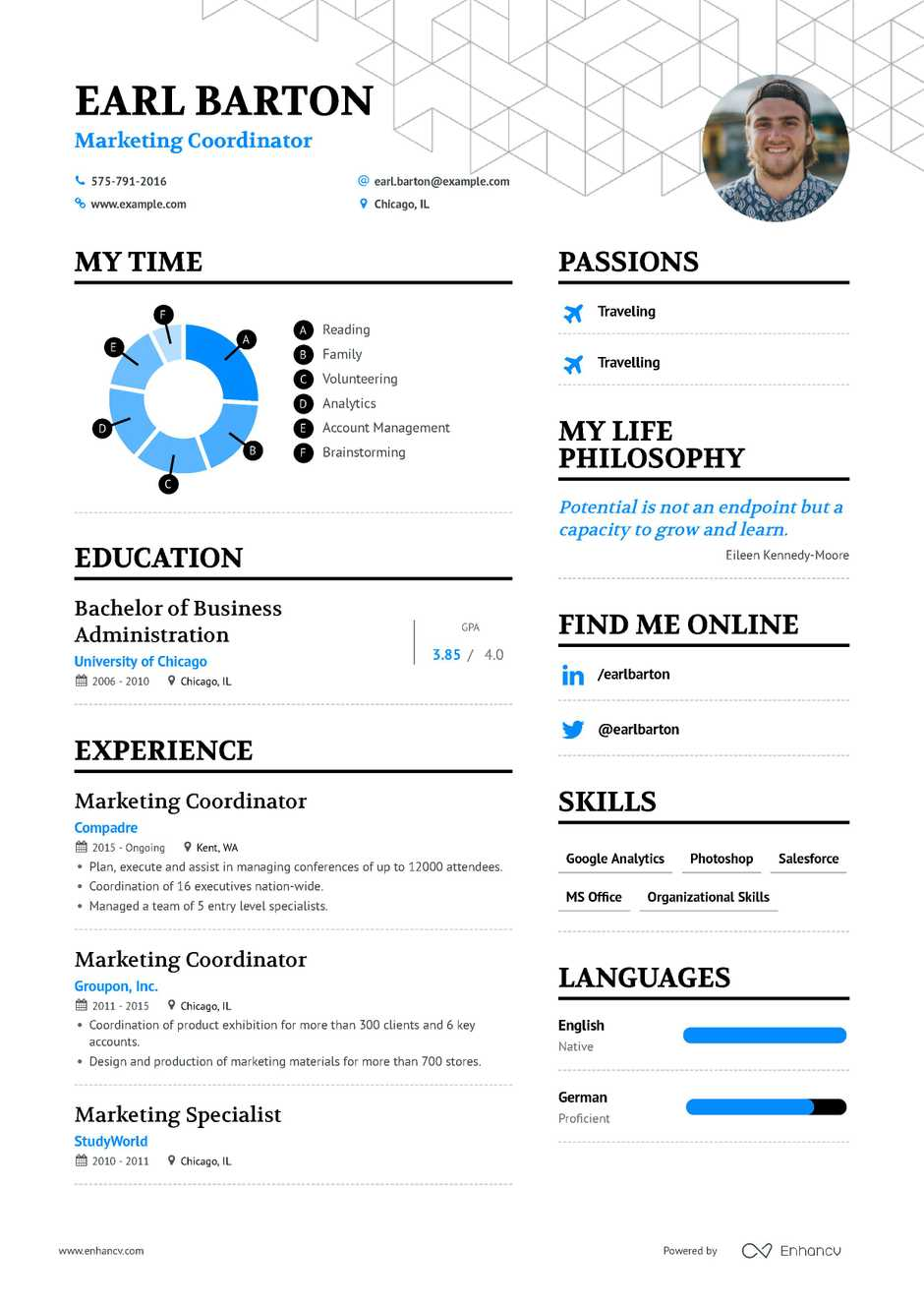 marketing coordinator resume example