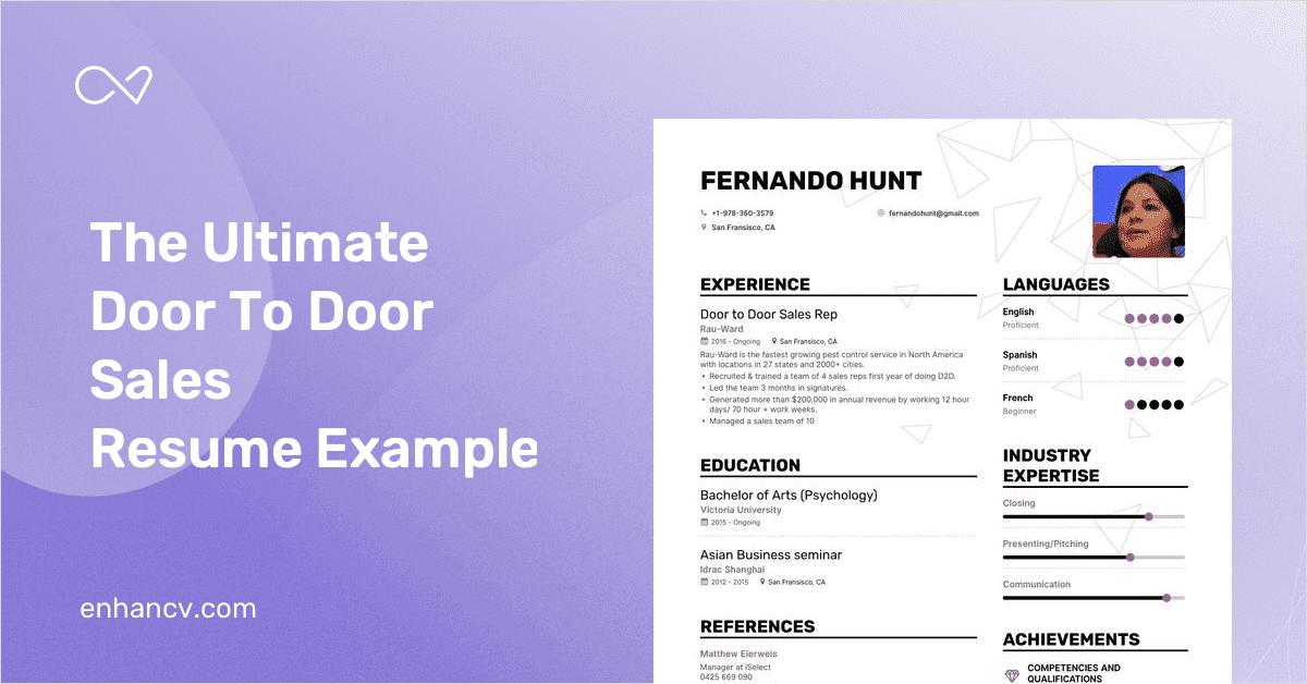 door to door sales resume example and guide for 2020