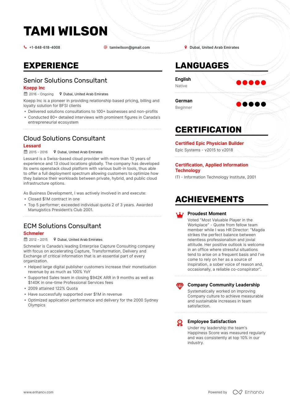 top solutions consultant resume examples  u0026 samples for