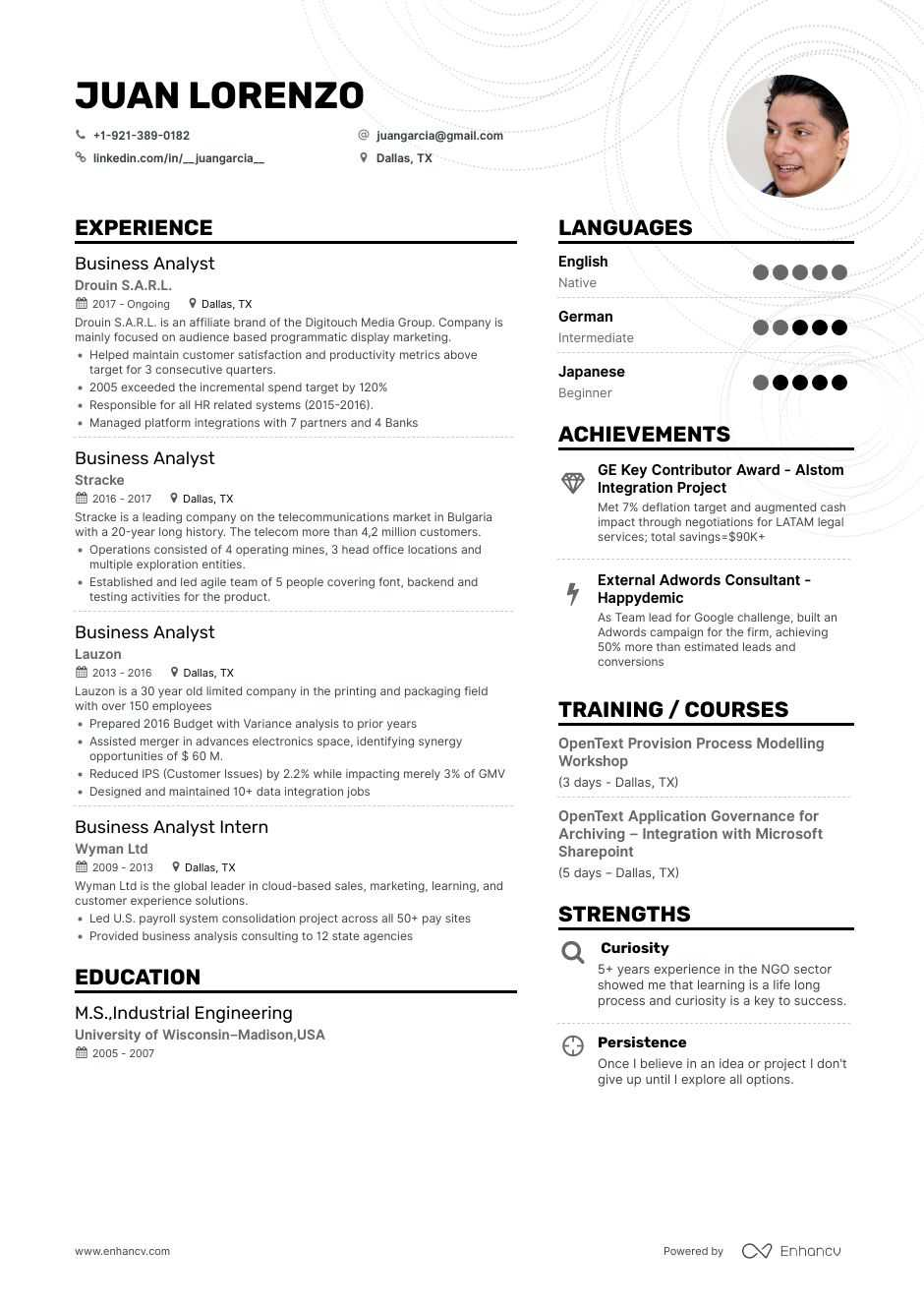the best business analyst resume examples  u0026 skills to get