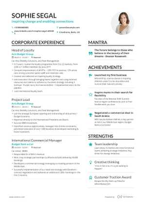 Sophie Segal resume preview