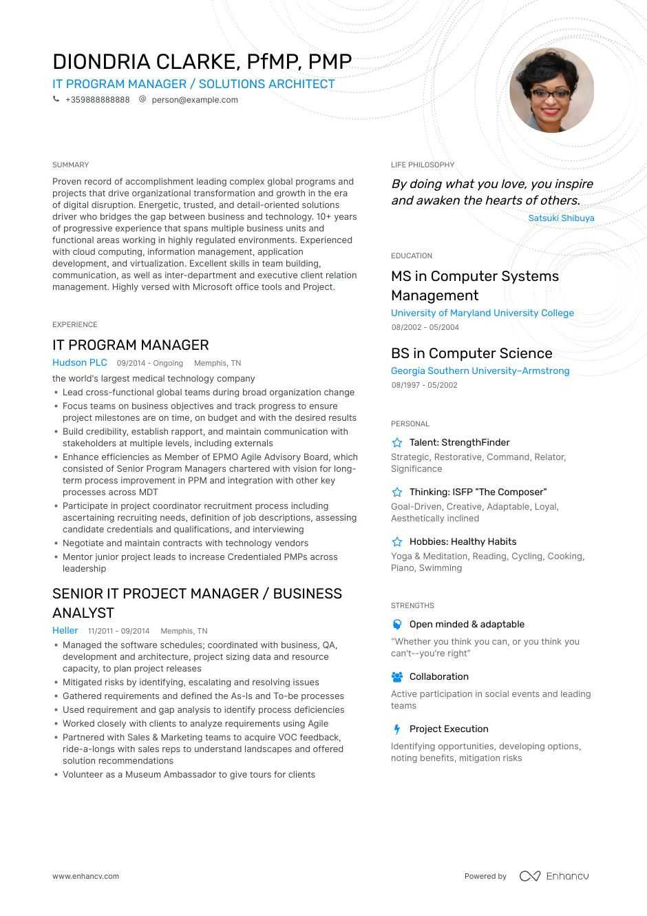 Program Manager Resume Examples Guide Amp Pro Tips Enhancv