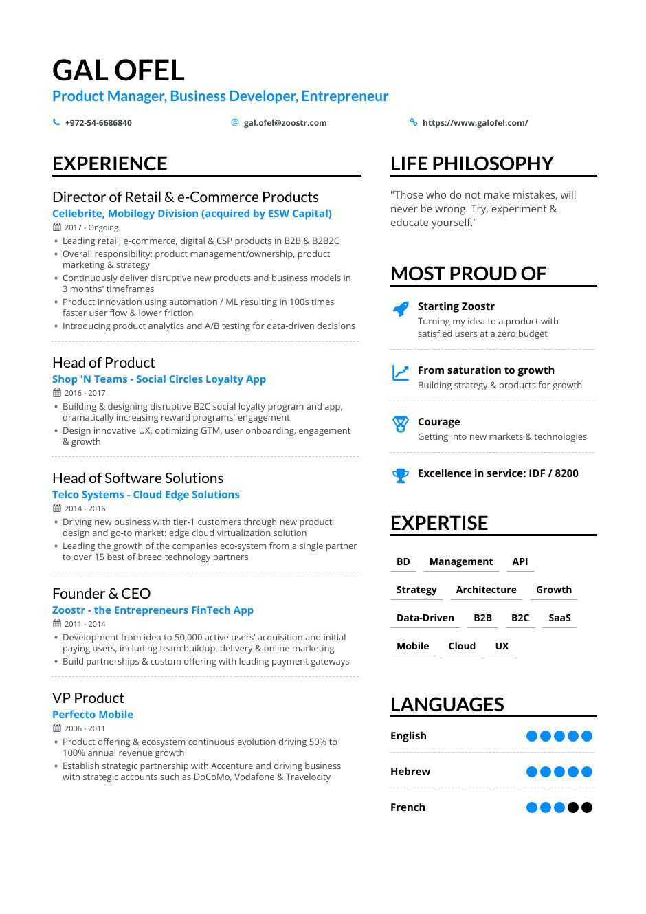 Business Development Resume Samples 12 Examples