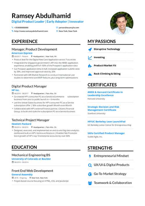 Product Manager Resume 2019