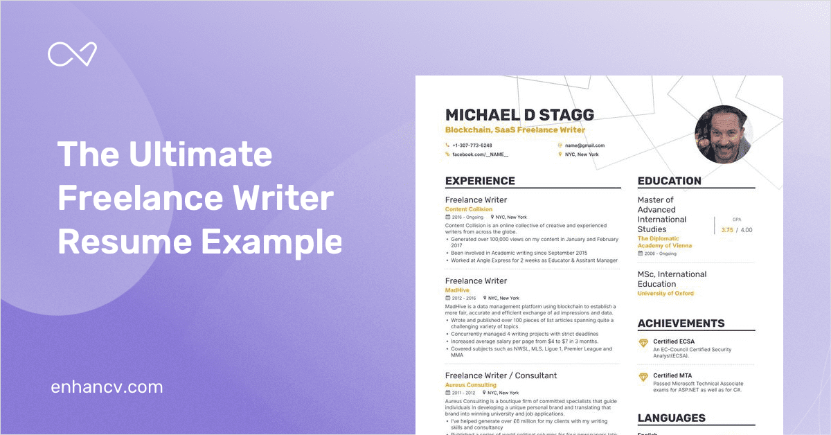 freelance writer resume samples  with 10 examples