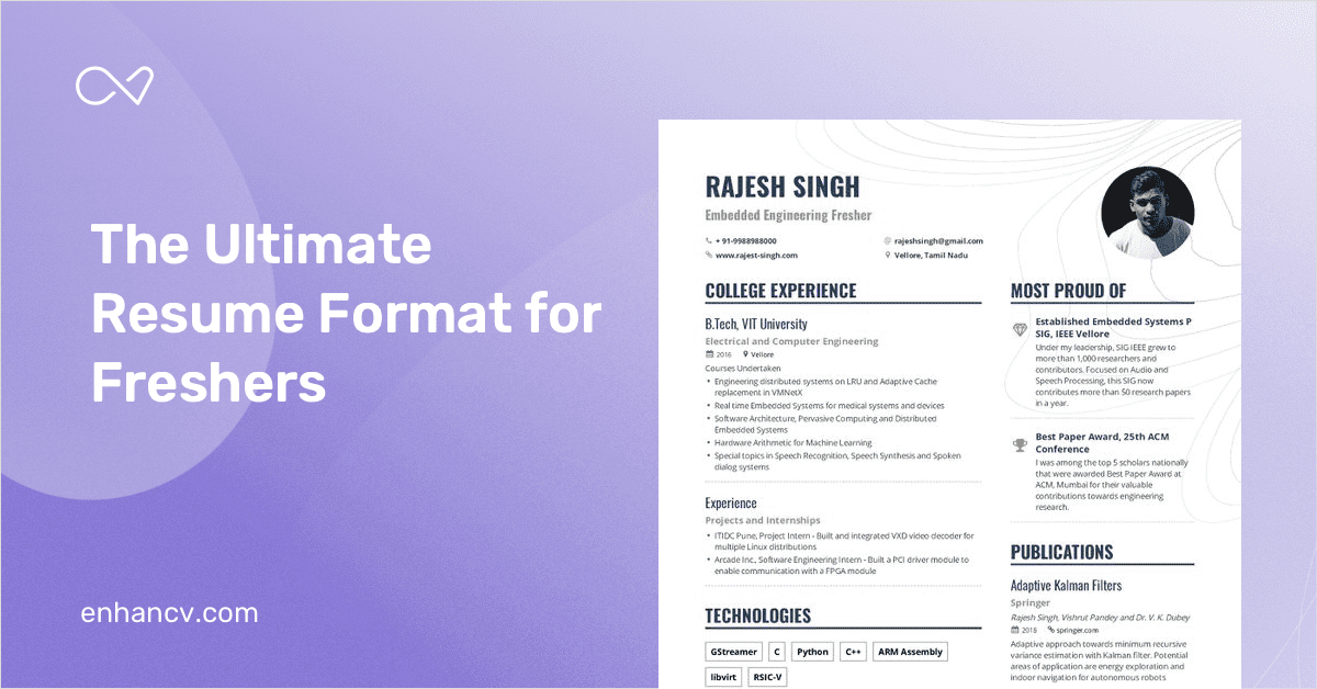 the ultimate interns and freshers resume format guide for 2019