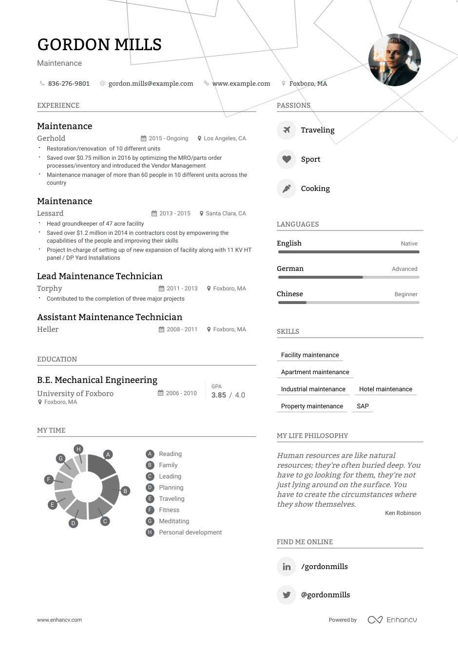 Maintenance Resume Examples Do S And Don Ts For 2021 Enhancv