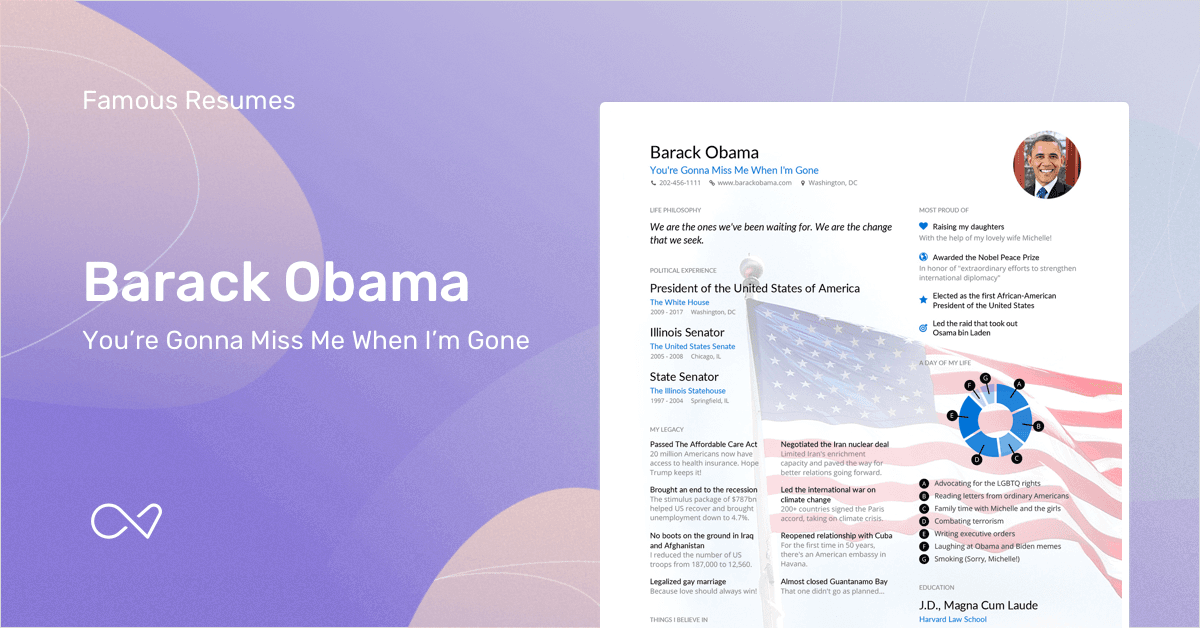barack obama s resume example enhancv