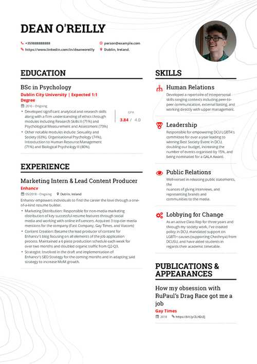 The Ultimate Marketing Interns Resume Format Guide For 2019