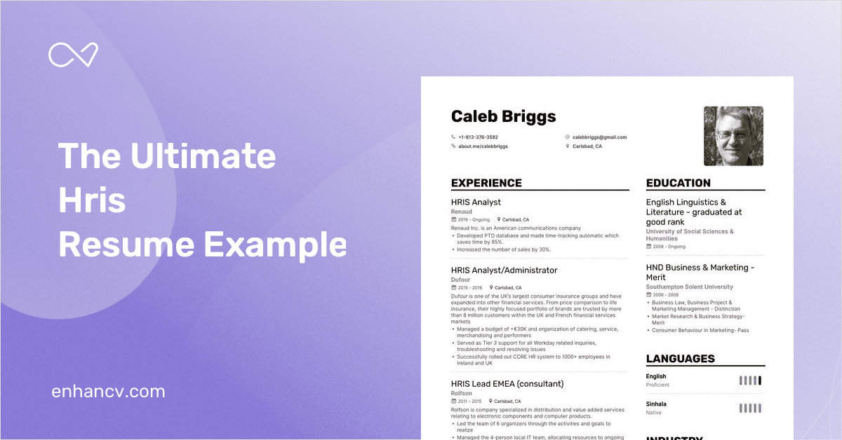 hris resume example and guide for 2019