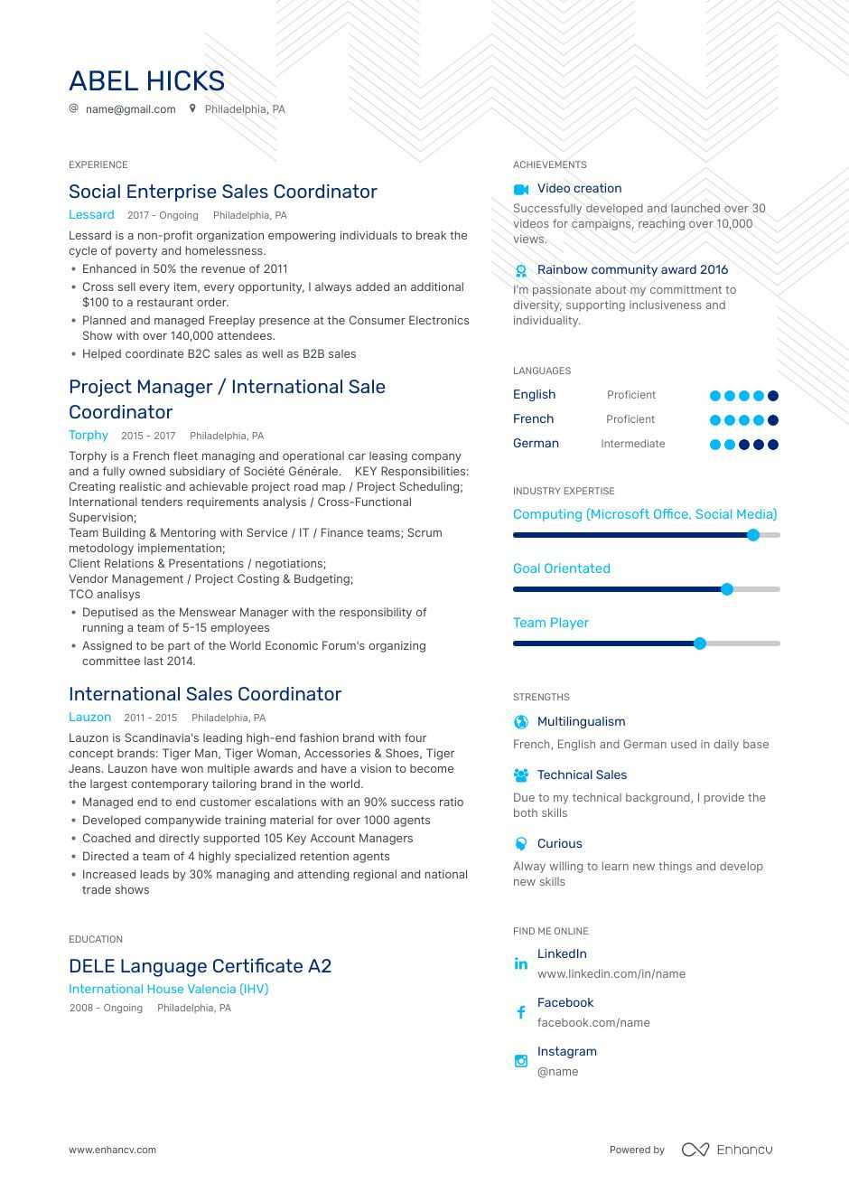 Sales Coordinator Resume Examples Do S And Don Ts For 2020 Enhancv