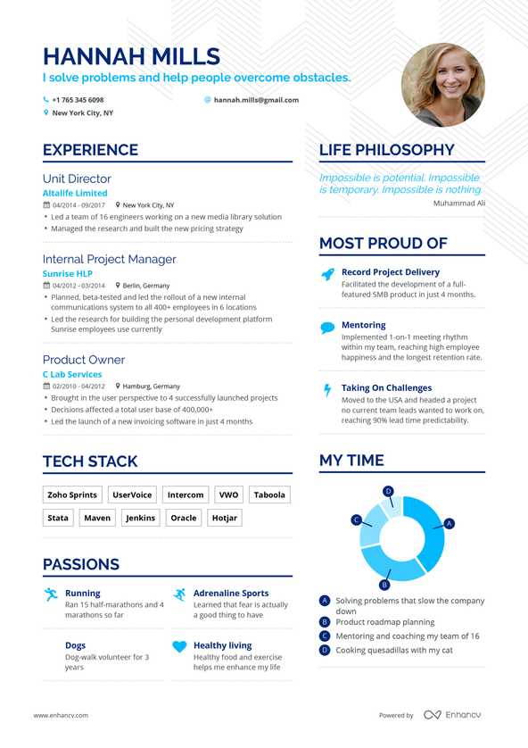 Free Resume Builder Online Resume Builder Enhancv Com