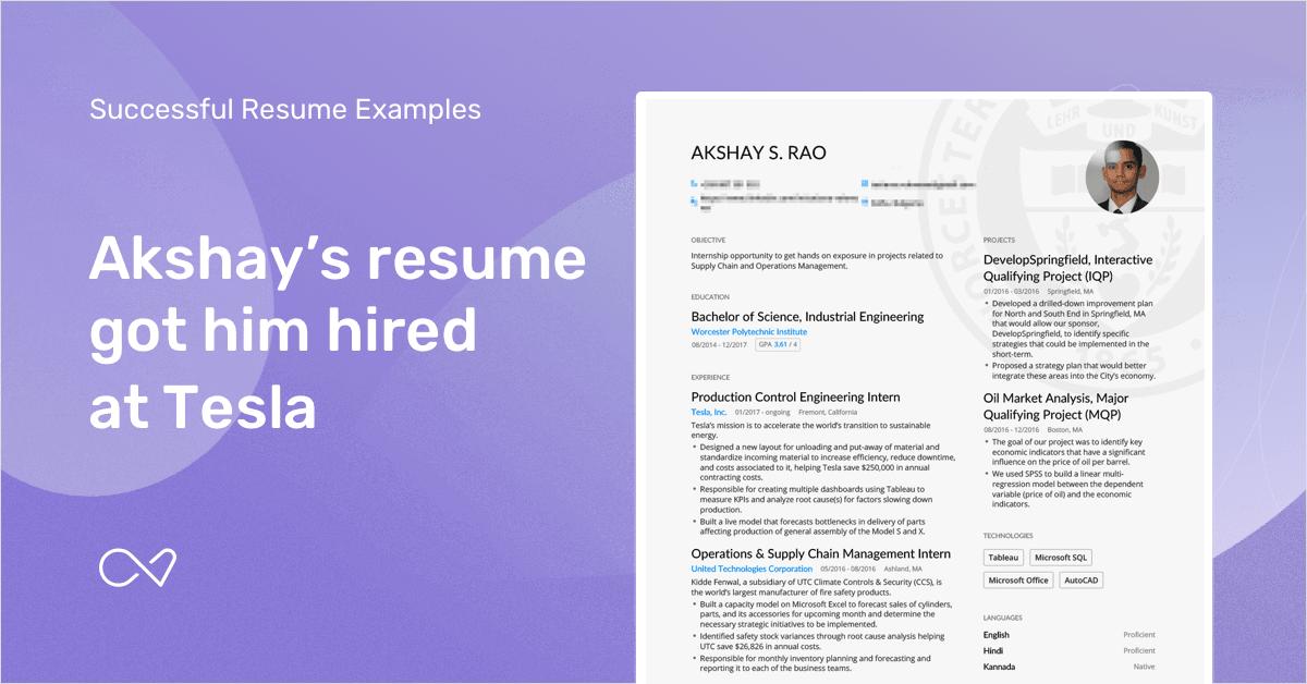 real college graduate resume example enhancv