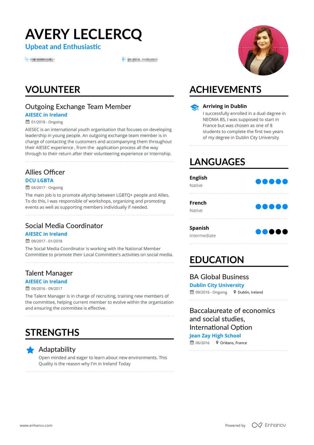 Real Volunteer Resume Example Enhancv