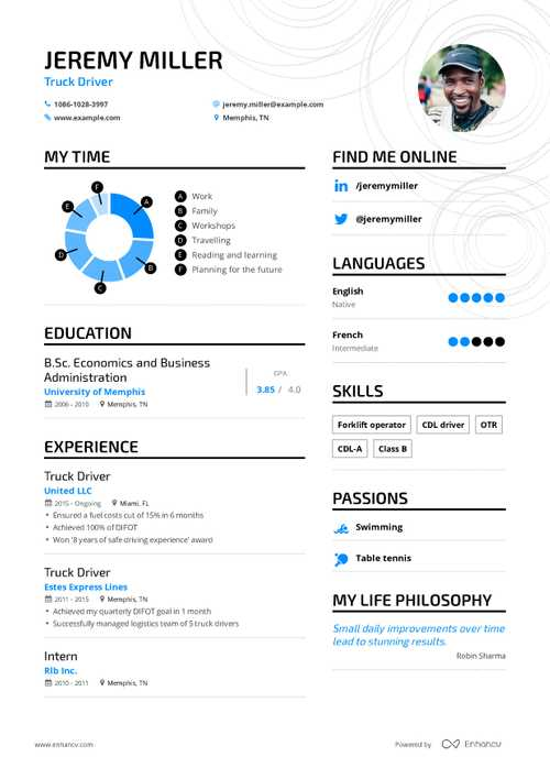 Jeremy Miller resume preview