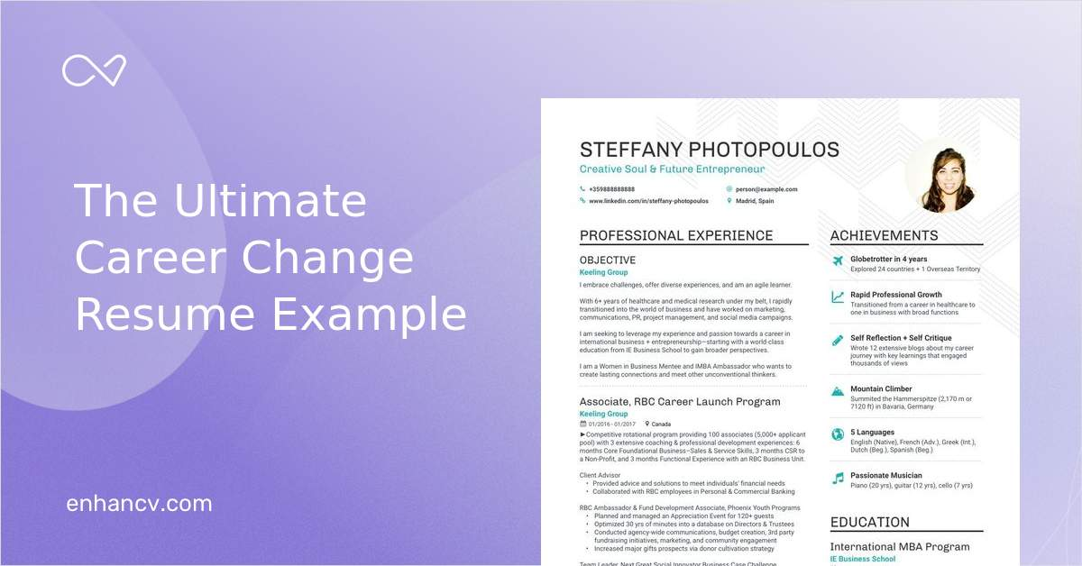 Career Change Resume Examples Skills Templates Amp More