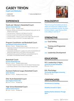 Casey Tryon's resume preview