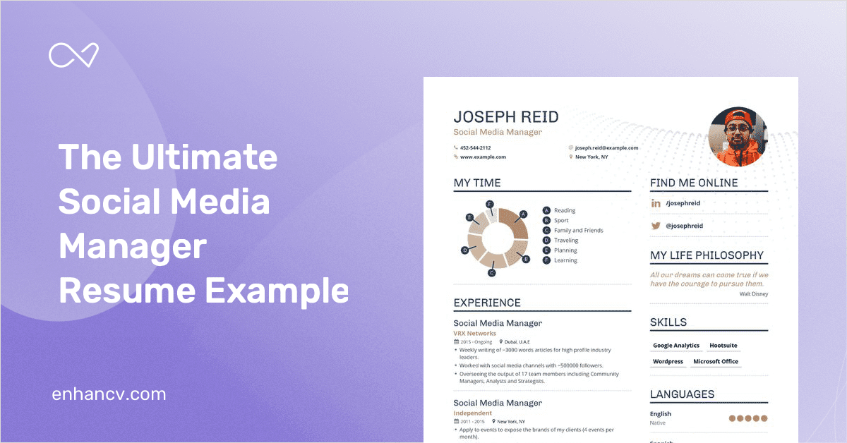 social media manager resume example and guide for 2019