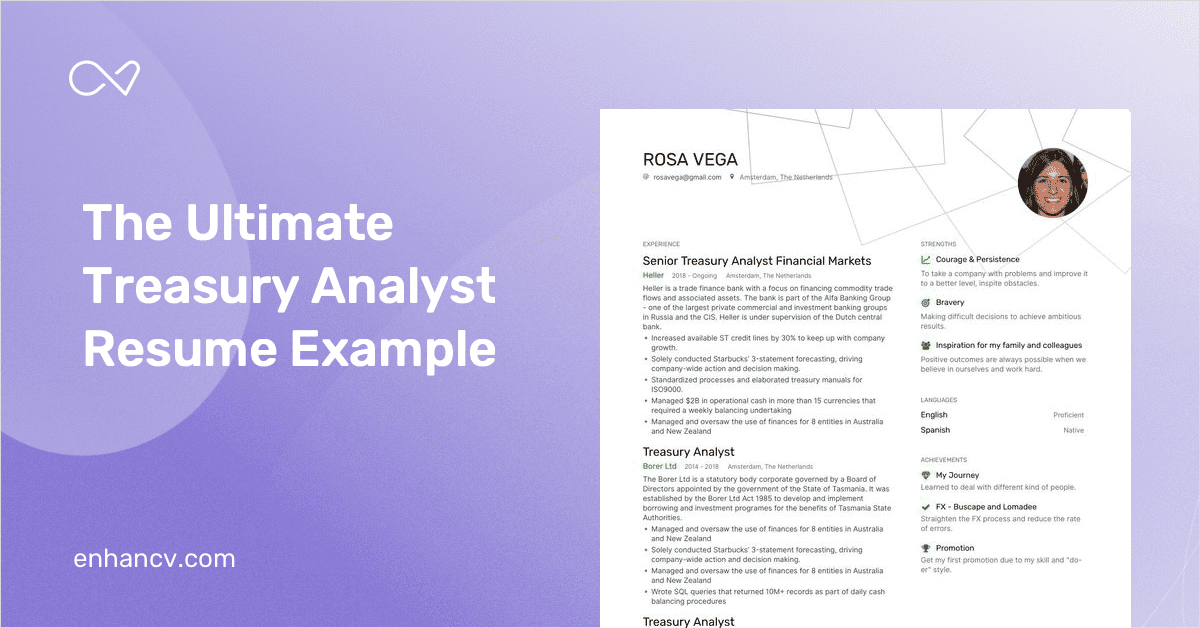 treasury analyst resume example and guide for 2020